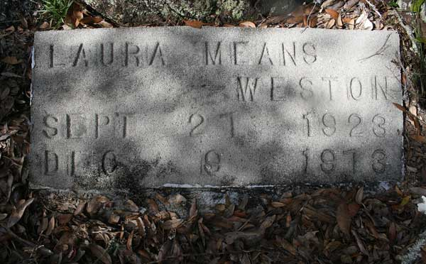 Laura Means Weston Gravestone Photo