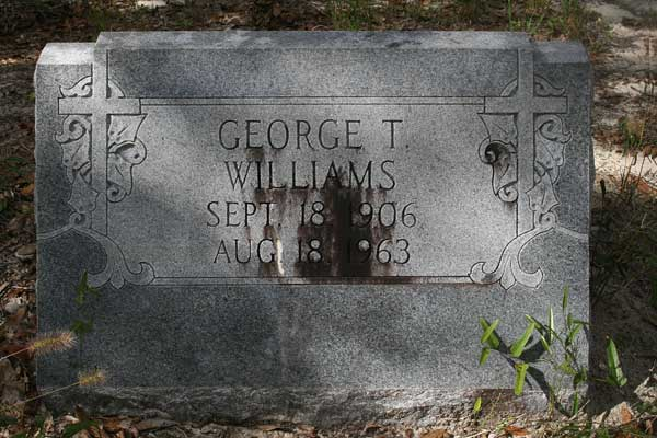 George T. Williams Gravestone Photo