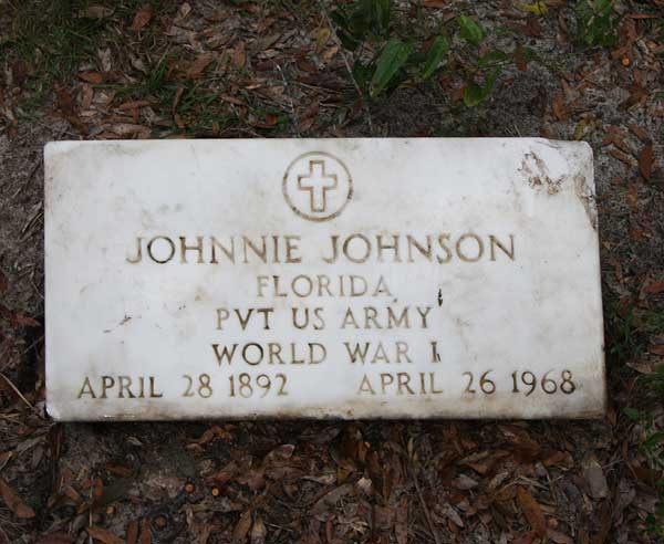 Johnnie Johnson Gravestone Photo
