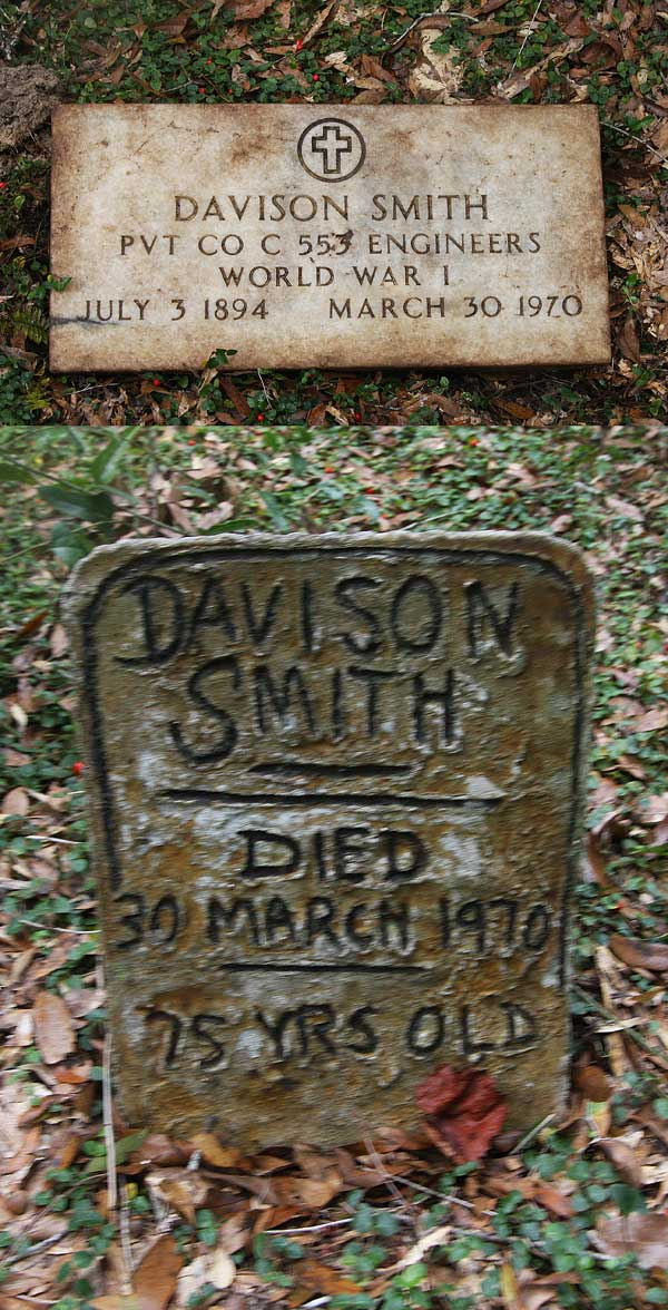 Davison Smith Gravestone Photo