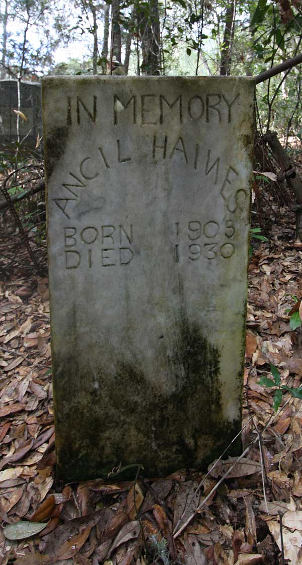 Ancil Haines Gravestone Photo