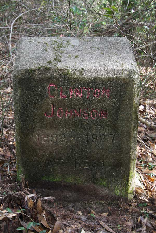 Clinton Johnson Gravestone Photo