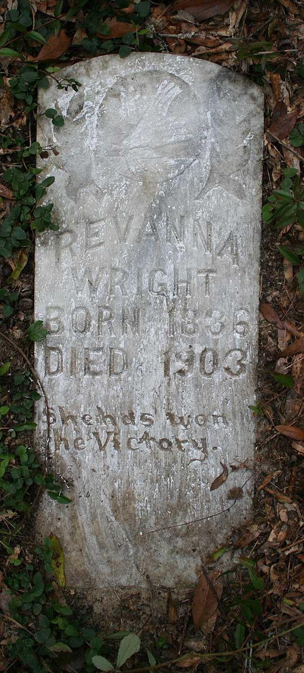Revanna Wright Gravestone Photo