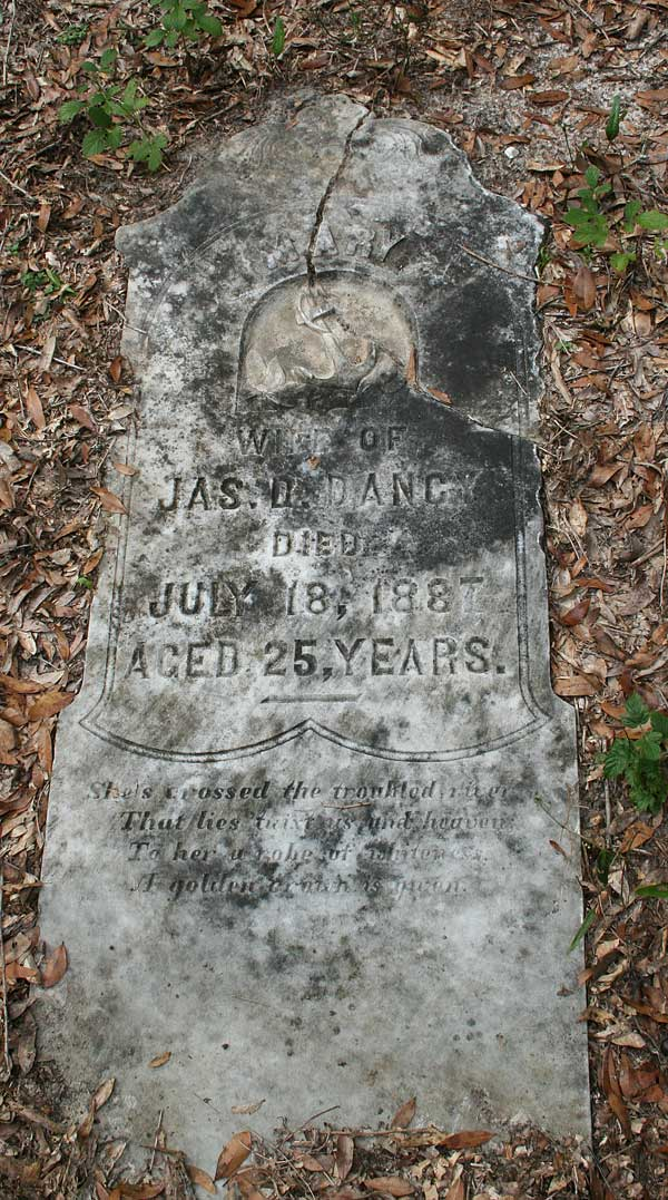 Mary Dancy Gravestone Photo