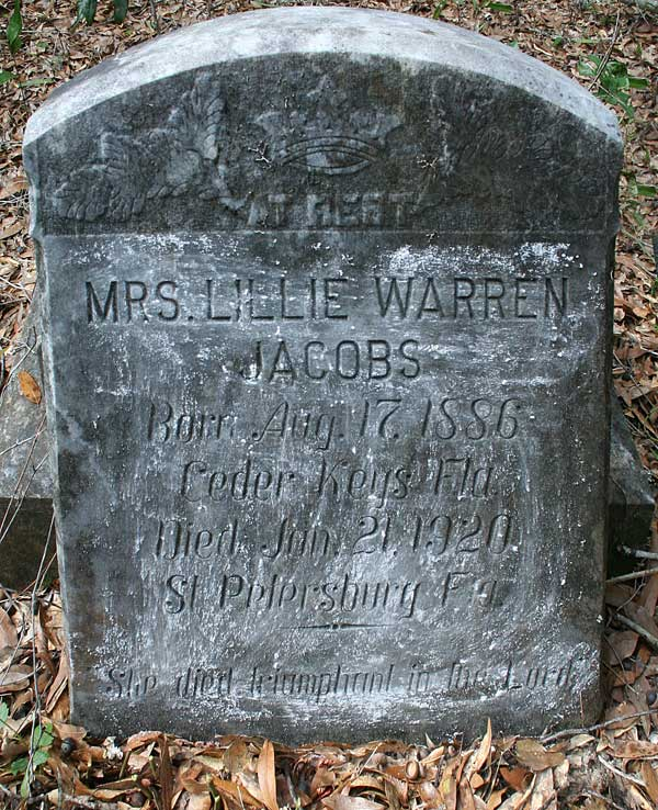 Mrs. Lillie Warren Jacobs Gravestone Photo