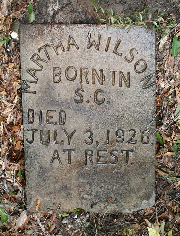 Martha Wilson Gravestone Photo
