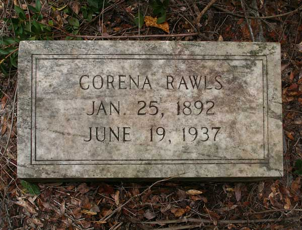 Corena Rawls Gravestone Photo