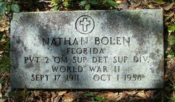 Nathan Bolen Gravestone Photo