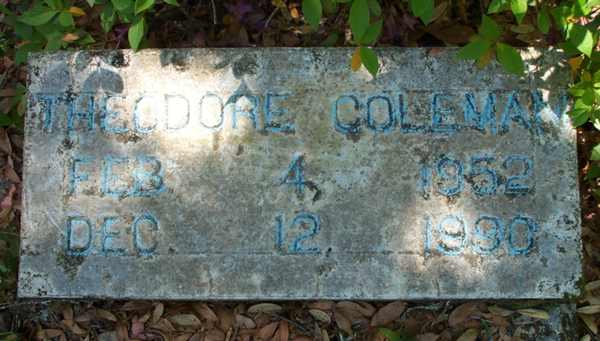 Theodore Coleman Gravestone Photo