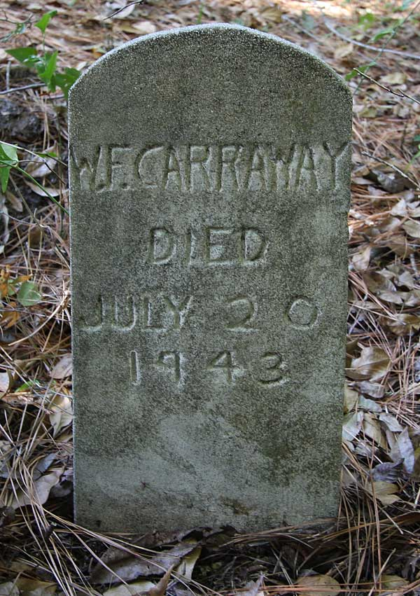 W.F. Carraway Gravestone Photo