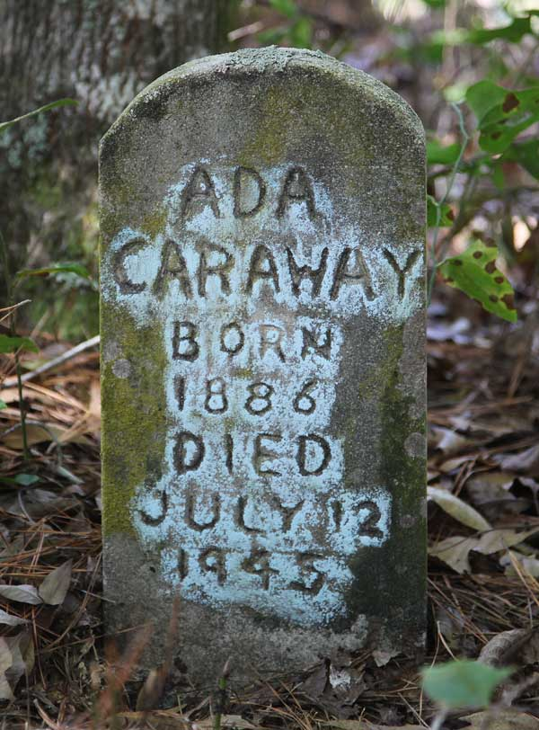 Ada Caraway Gravestone Photo