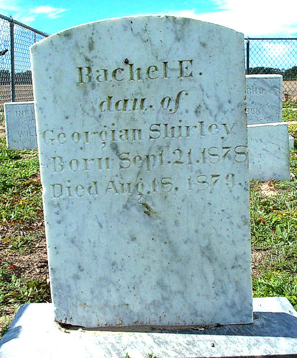 Rachel E. Shirley Gravestone Photo