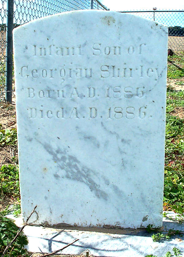(Infant Son) Shirley Gravestone Photo