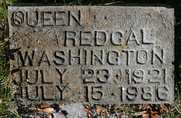 QUEEN  REDGAL WASHINGTON Gravestone Photo