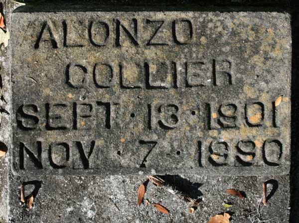 ALONZO COLLIER Gravestone Photo