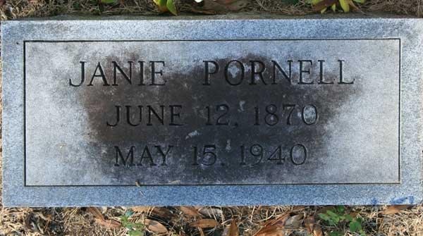JANIE PORNELL Gravestone Photo