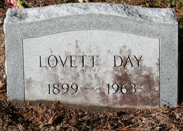 LOVETT DAY Gravestone Photo