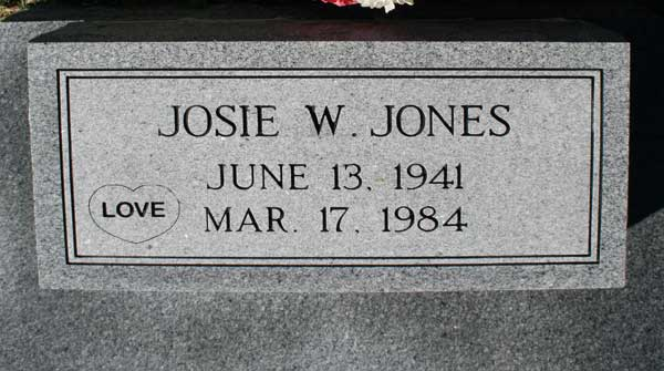 JOSIE LEE JONES Gravestone Photo