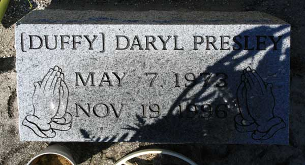 DARYL (DUFFY) PRESLEY Gravestone Photo