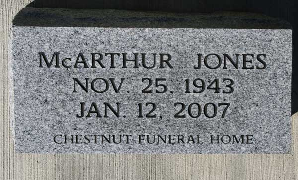 McARTHUR JONES Gravestone Photo