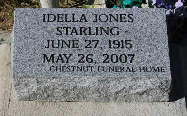 IDELLA JONES STARLING Gravestone Photo