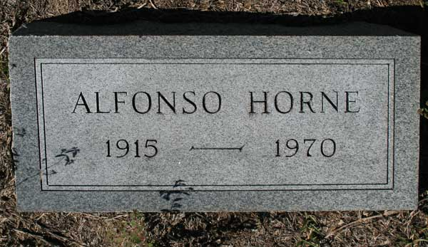 ALFONSO HORNE Gravestone Photo