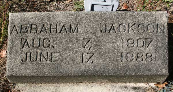 ABRAHAM JACKSON Gravestone Photo