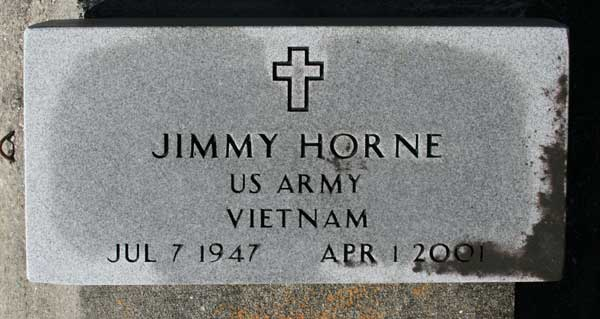 JIMMY HORNE Gravestone Photo