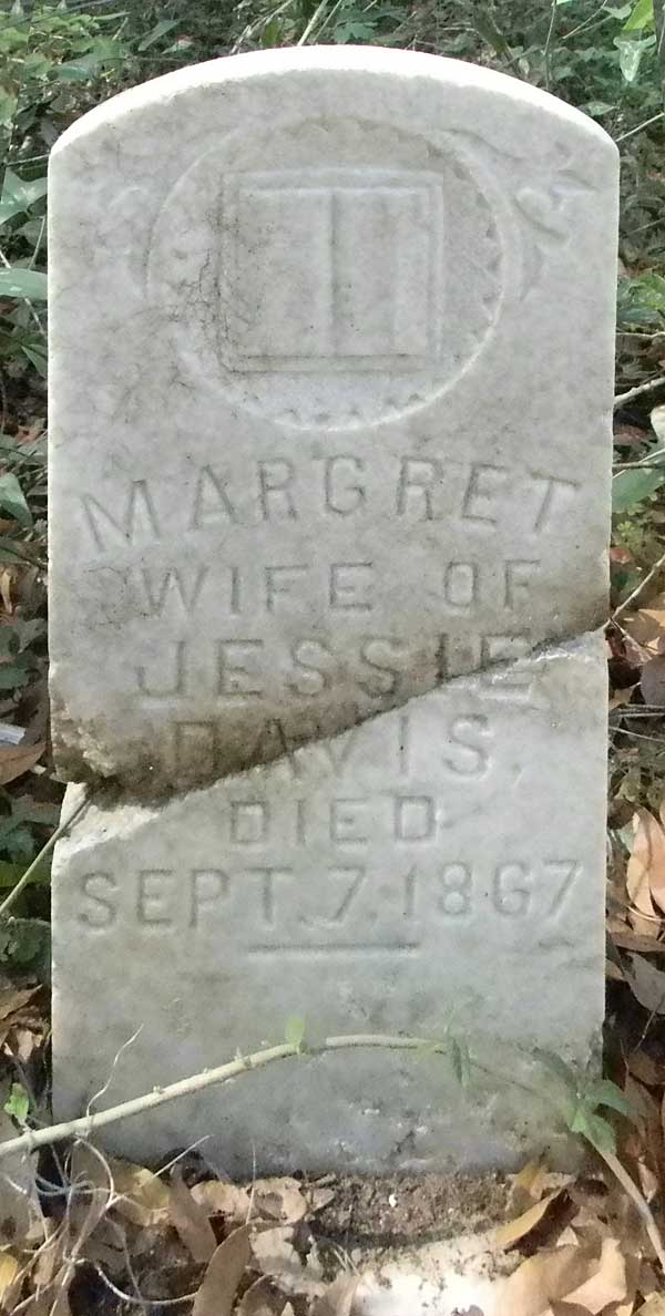 Margret Davis Gravestone Photo