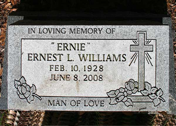 Ernest L. Williams Gravestone Photo