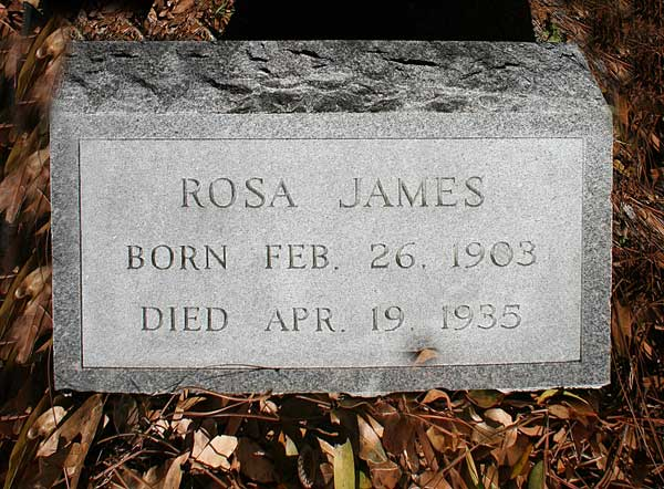Rosa James Gravestone Photo