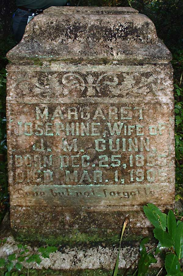 Margaret Josephine (Exley), wife of J.M. Guinn Gravestone Photo