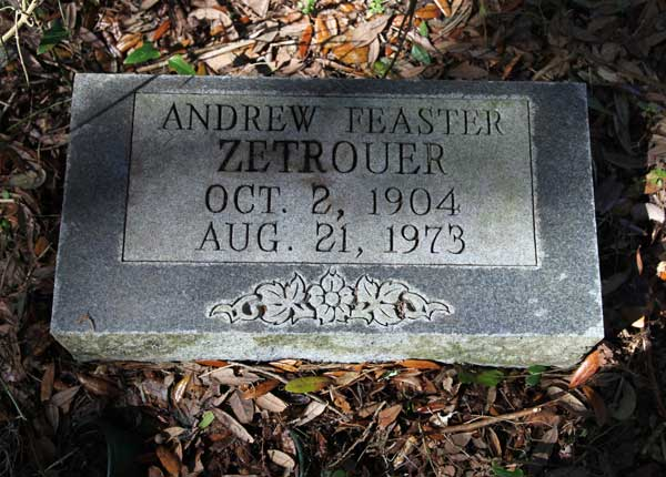 Andrew Feaster Zetrouer Gravestone Photo