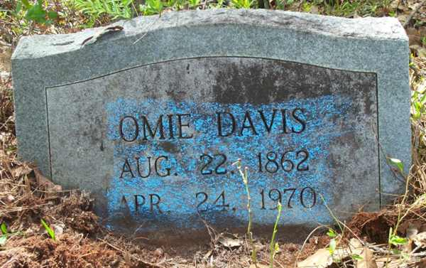 Omie Davis Gravestone Photo