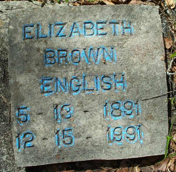 Elizabeth Brown English Gravestone Photo