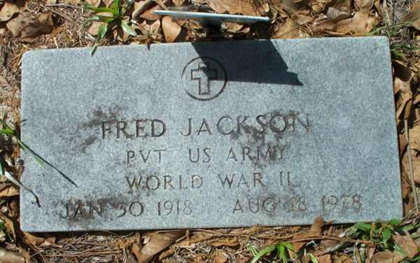 Fred Jackson Gravestone Photo