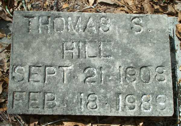 Thomas S. Hill Gravestone Photo