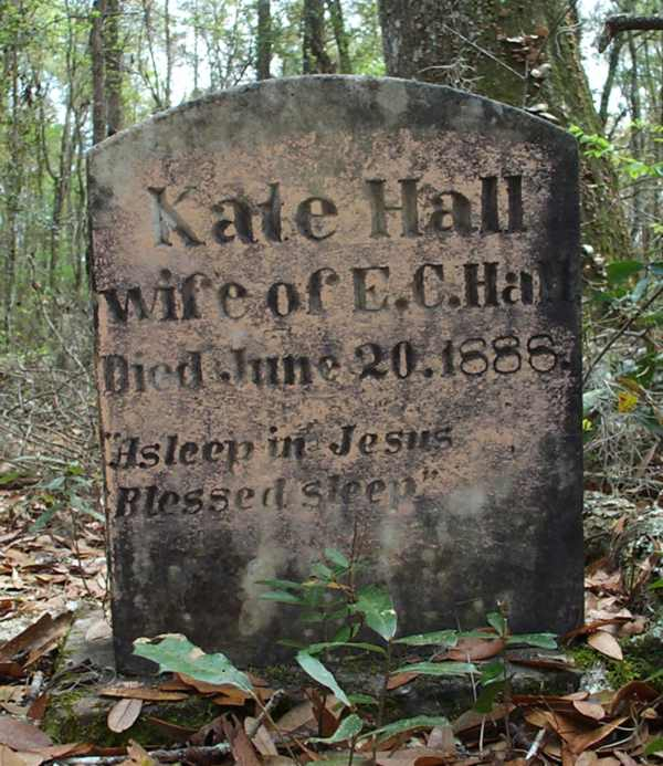 Kate Hall Gravestone Photo