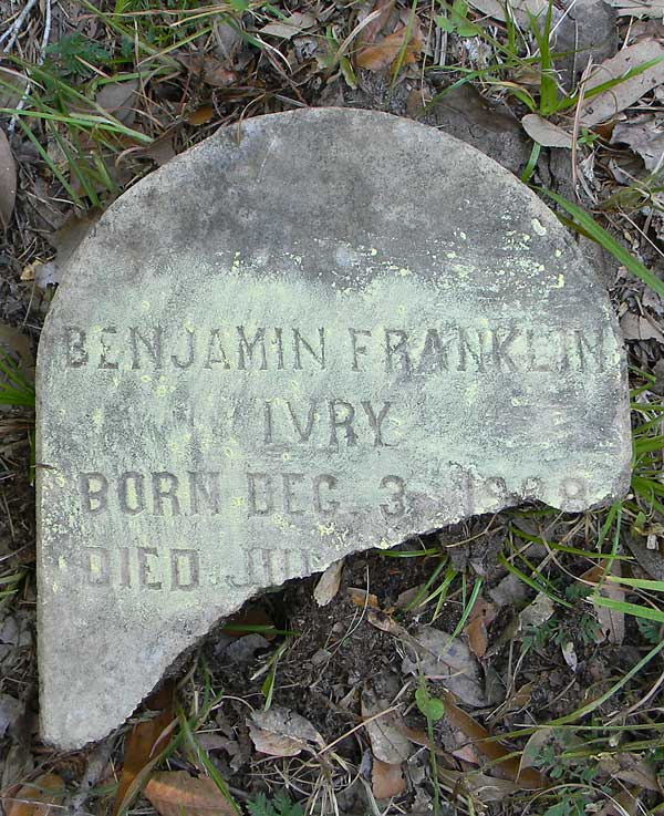 Benjamin Franklin Ivry Gravestone Photo