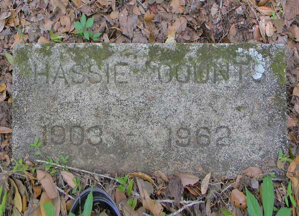 Hassie Counts Gravestone Photo