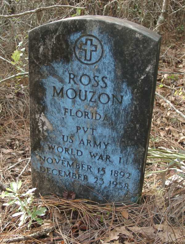 Ross Mouzon Gravestone Photo