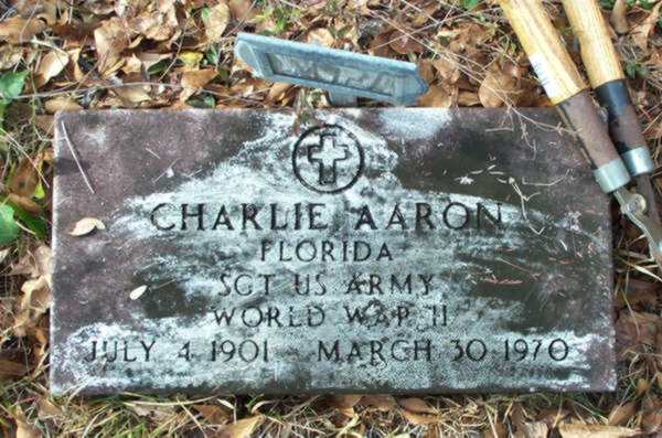 Charlie Aaron Gravestone Photo