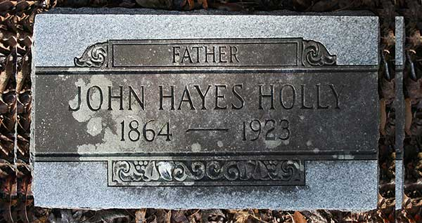 John Hayes Holly Gravestone Photo