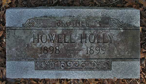 Howell Holly Gravestone Photo