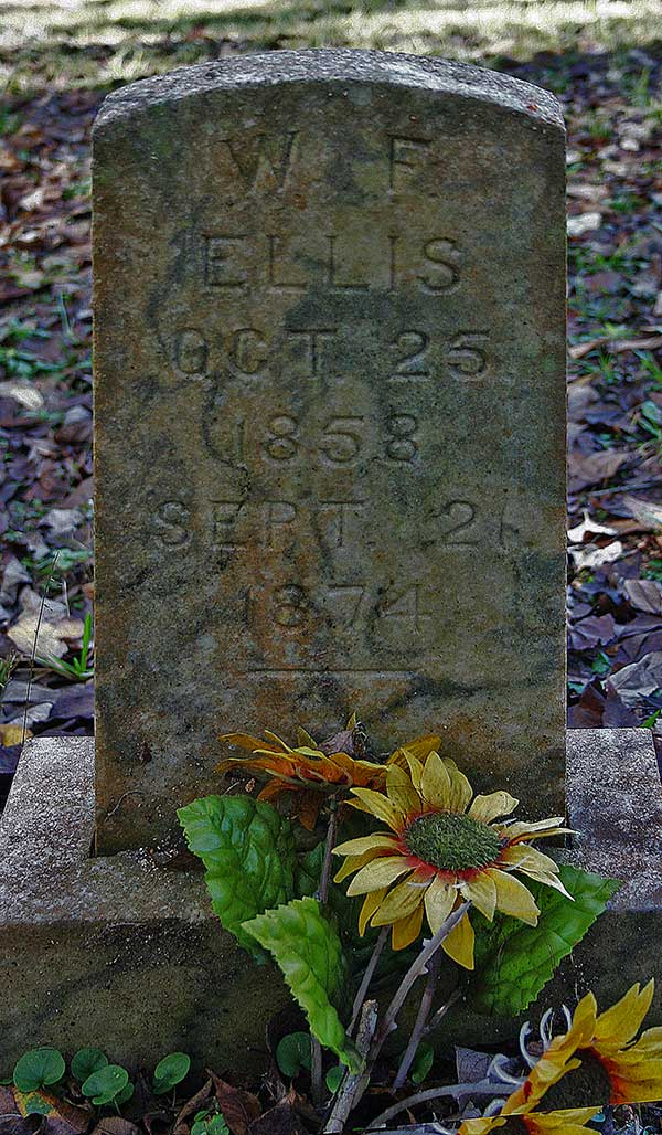 W.F. Ellis Gravestone Photo