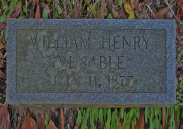 William Henry Venable Gravestone Photo