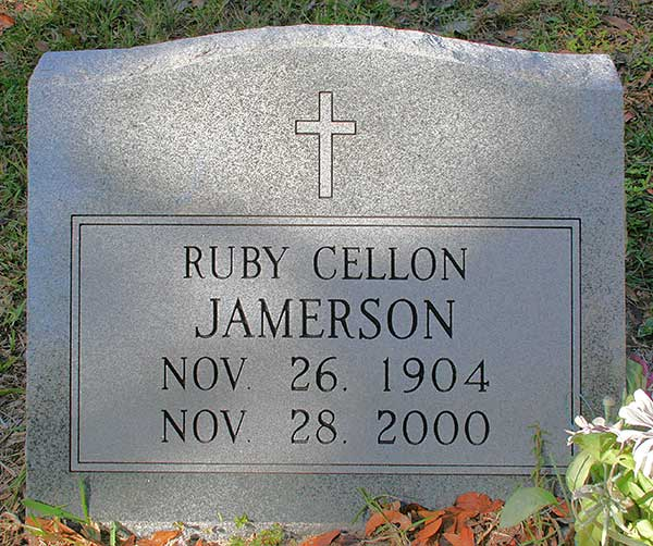 Ruby Cellon Jamerson Gravestone Photo