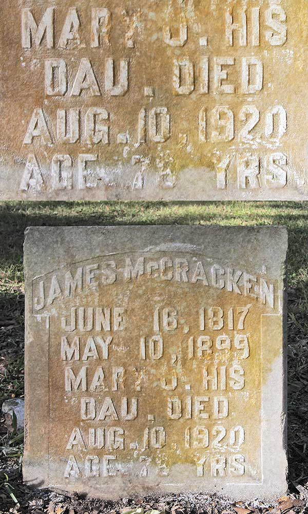 Mary J. McCracken Gravestone Photo