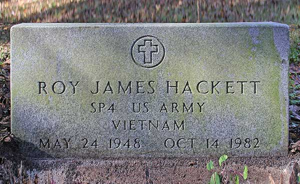 Roy James Hackett Gravestone Photo