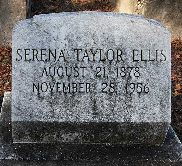 Serena Taylor Ellis Gravestone Photo